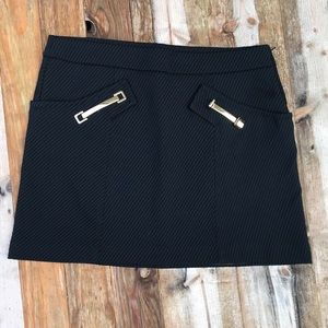 Animale | Black Textured Skirt Gold Buckle size 40